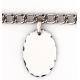 Bracelet 5 pendentifs ovale personnalisés
