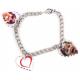 Bracelet 3 pendentifs coeur personnalisés [x]