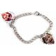 Bracelet 2 pendentifs coeur personnalisés [x]