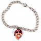 Bracelet photo pendentif coeur personnalisé [x]