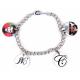 Bracelet 4 pendentifs rond personnalisés [x]