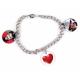 Bracelet 3 pendentifs rond personnalisés [x]