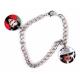 Bracelet 2 pendentifs rond personnalisés [x]