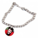 Bracelet pendentif photo rond personnalisé [x]