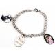 Bracelet 3 pendentifs ovale personnalisés [x]