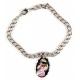 Bracelet pendentif photo ovale personnalisé [x]