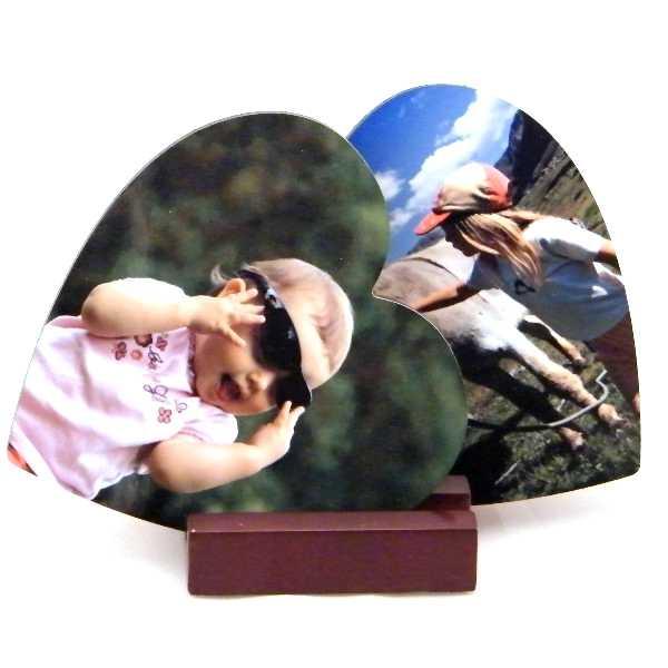 Dessous de verre coeur personnalis avec vos photos et messages personnels - Dessous de verre originaux ...