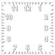 Horloge Carré personnalisée