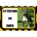 Plaque Attention chien personnalisée [x]
