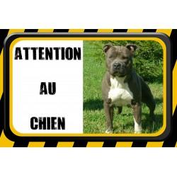 Plaque Attention chien personnalisée