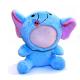 Peluche Elephant Bleu 3D personnalisée