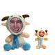 Peluche Chèvre avec écharpe 3D personnalisée [x]