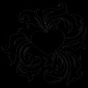 Sticker Coeur Tribal [x]
