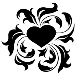 Sticker Coeur Tribal [x]