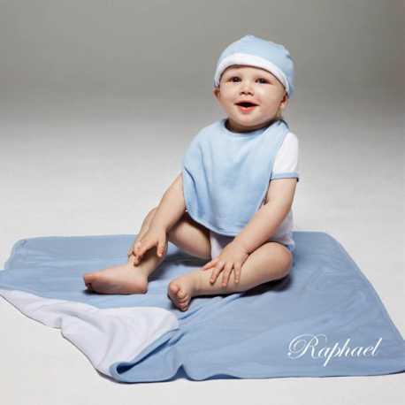 Couverture bébé réversible brodée [x]
