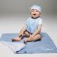 Couverture bébé réversible brodée