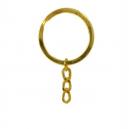 Attache porte clefs Doré