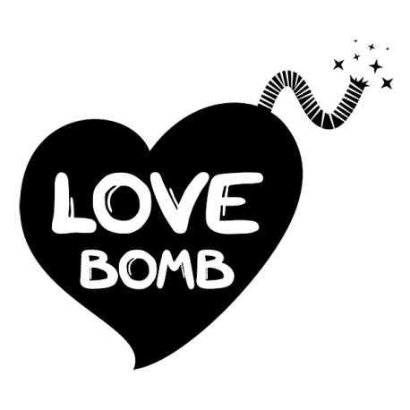 Sticker Coeur Bombe sur mesure [x]