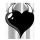 Sticker Coeur Corne sur mesure