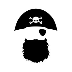Sticker Pirate sur mesure