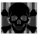 Sticker  Tete de mort sur mesure [x]