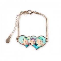 Bracelet Double Coeur Personnalisé
