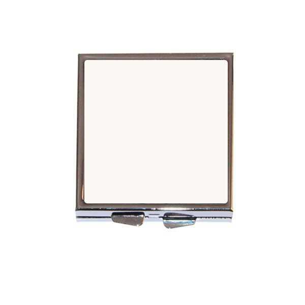 Miroir de poche carr personnaliser avec textes et photos for Miroir de poche