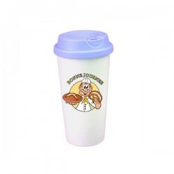 Mug conique plastique personnalisé