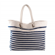 Grand sac de plage style marin brodé