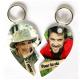 Porte clef coeur sécable personnalisé