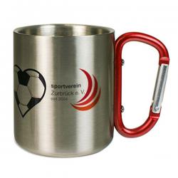 Mug inox mousqueton personnalisé