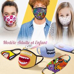 Masque de protection Tissu avec filtre personnalisé