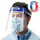 Visière de protection complète, écran facial transparent en plastique réglable