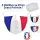 Masque de protection Drapeau Français Adulte Lavable 2 filtres PM2.5 fournis