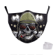 Masque de protection personnalisé Tête de Mort Adulte Lavable 2 filtres PM2.5