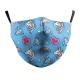 Masque de protection Licorne Adulte Lavable Réutilisable avec 2 Filtres PM 2.5