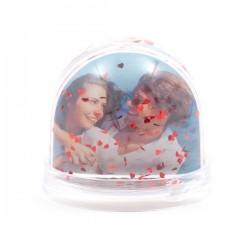 Boule à Neige coeur personnalisée