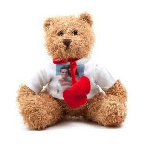 ourson peluche cur personnalis par amour partir de vos photos souvenirs - Ours Coeur