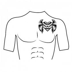 Tatouage temporaire personnalisé Coeur/Epaule [x]