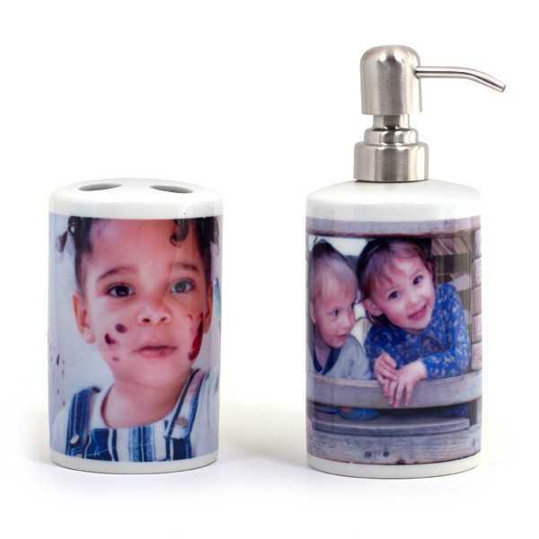 Distributeur à savon avec Porte brosse à dent personnalisé [x]