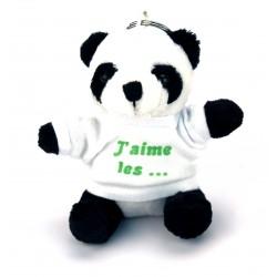 Porte Clef Peluche Panda personnalisé