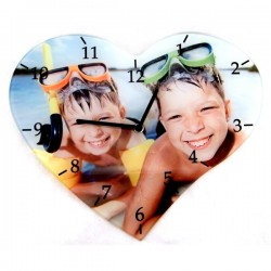 Horloge coeur personnalisé [x]