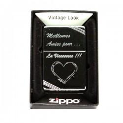Briquet Zippo Vintage High Polish personnnalisé