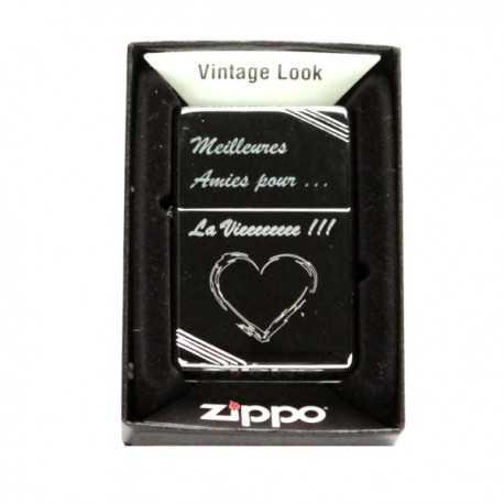 Briquet Zippo Vintage High Polish personnnalisé [x]