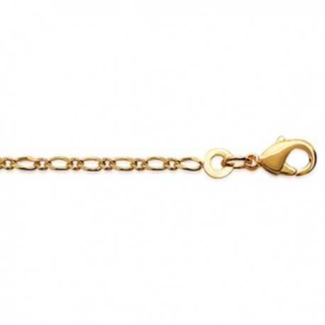 Chaine Figaro Diamentée plaqué Or - longueur 50cm