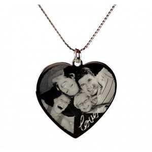 Pendentif Coeur Love gravé Argent  x]