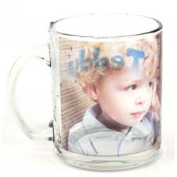 Mug en verre transparent personnalisé