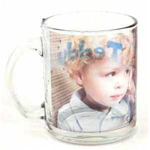 Mug en verre transparent personnalisé [x]