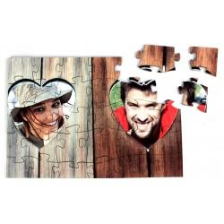 Puzzle en bois personnalisé - 30 pièces