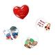 Lot de 4 Magnets Coeur personnalisés